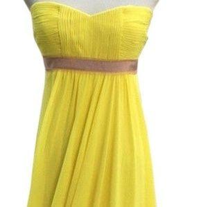 BCBGMaxAzria Chartreuse Chiffon Gown